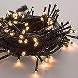 takestop® 400 LED LUCI BIANCO caldo FILO VERDE ALBERO DI NATALE CATENA LUMINOSA CONTROLLER 8 FUNZIONI MINILUCCIOLE LAMPADINE LUCCIOLE