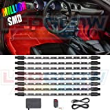 LEDGlow 8pc Million Color SMD LED Car Interior Underdash Lighting Kit - 72 SMD LEDs - Music Mode - Universal Fitment