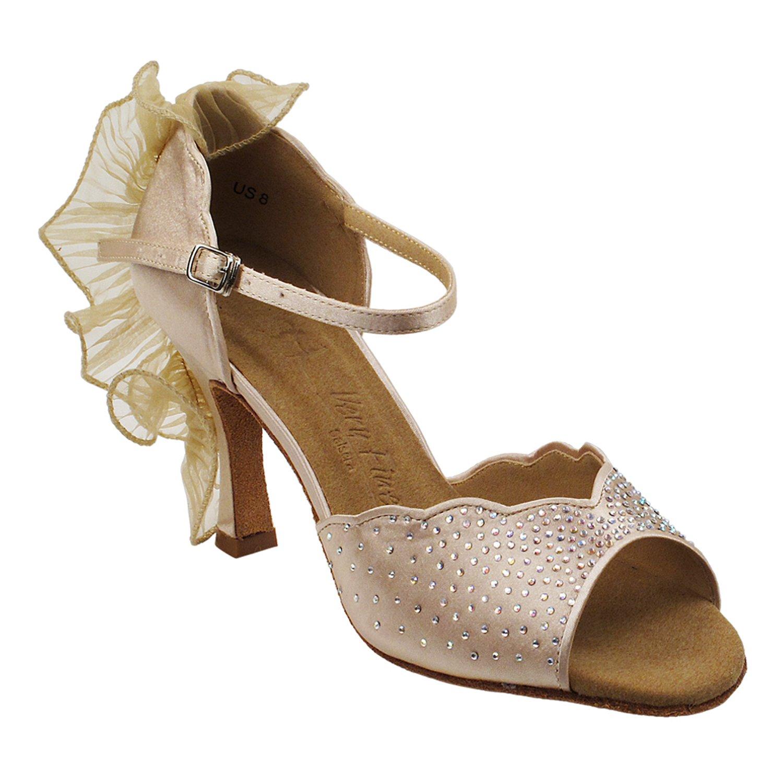 贅沢 [Gold Size Pigeon Heel Shoes] レディース B075J1RMSP Heel [Gold 3