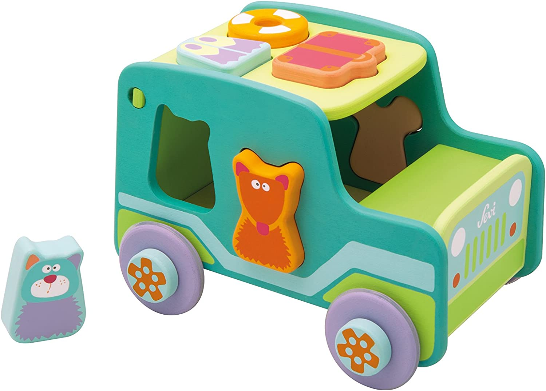 Trudi 82945 25 x 18 x 19 cm Sorting Jeep Toy