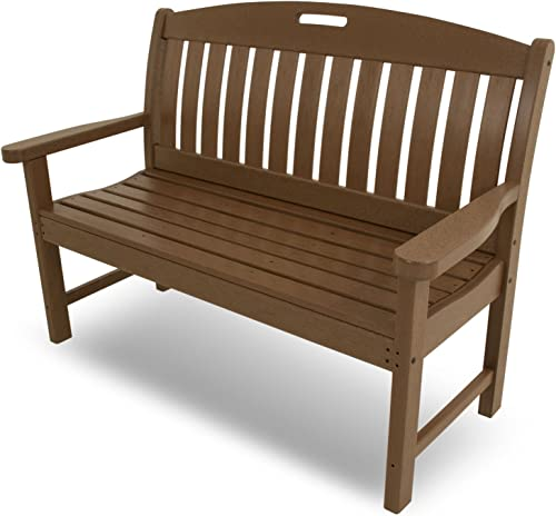 POLYWOOD NB48TE Nautical 48 Bench, Teak
