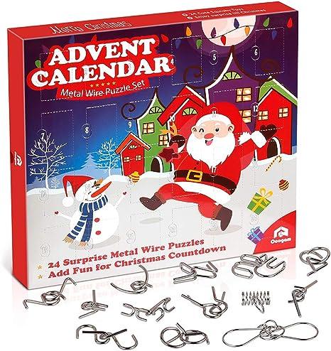 Christmas Countdown 2020 L Amazon.com: Coogam Metal Wire Puzzle Toys Advent Calendar, 2020