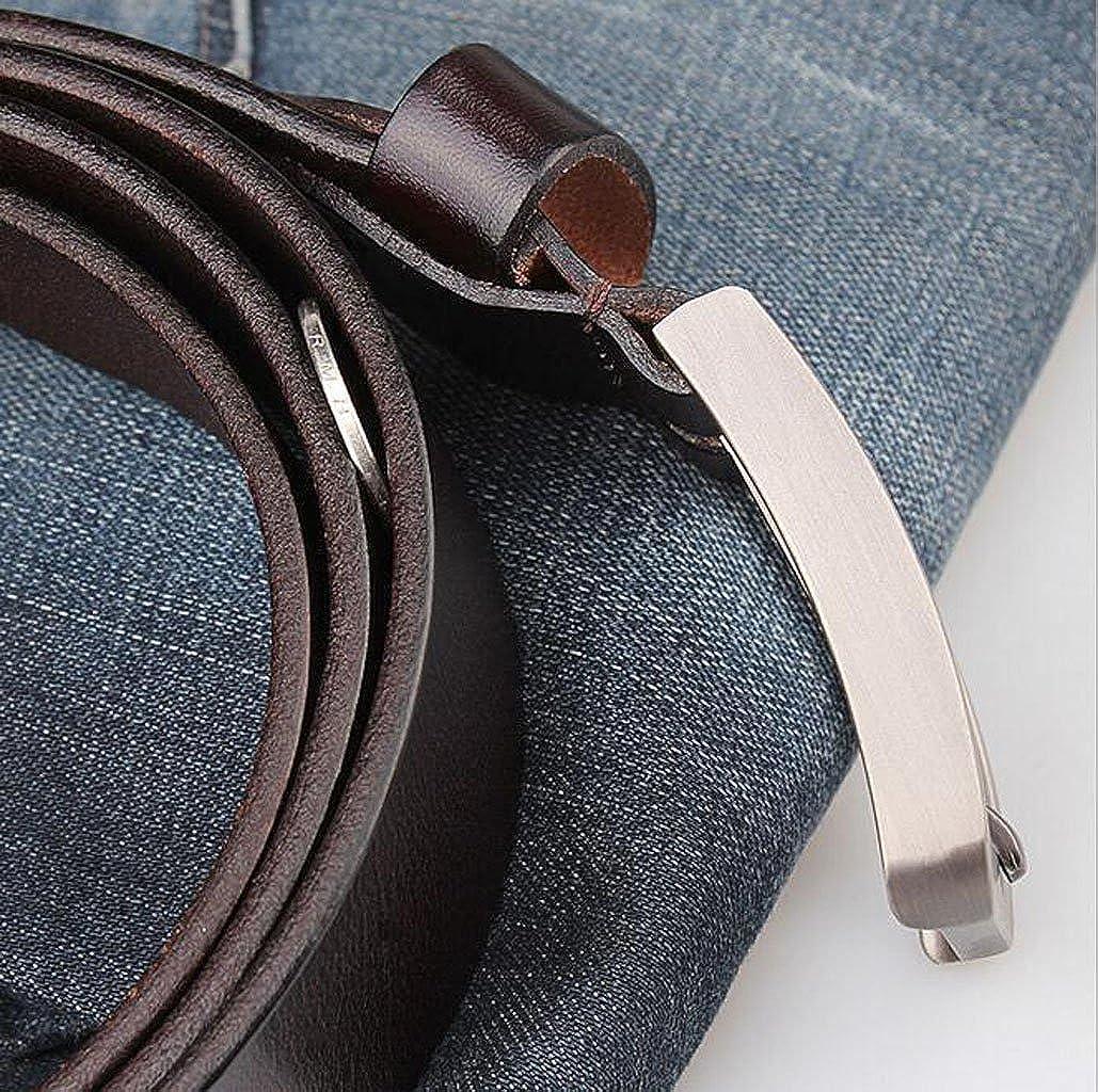 FGSJEJ Première couche en cuir hommes ceinture boucle ardillon simple  ceinture en cuir allongeant grande taille (Couleur   Kaki)  Amazon.fr   Vêtements et ... 43ac7acef43