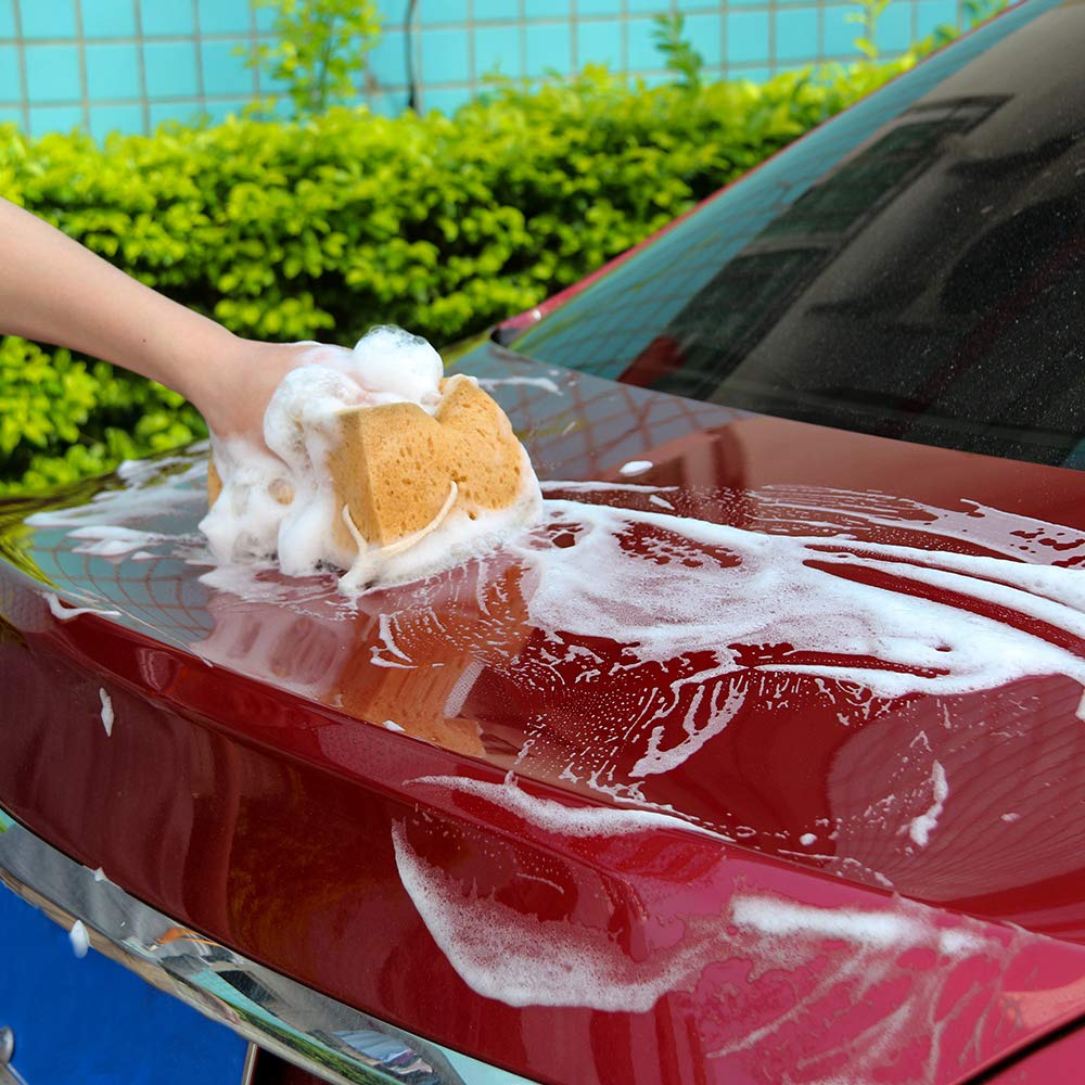 OurLeeme Durable Car Vehicle Wash Sponges for Car Washer Cleaning Bathroom Kitchen Household Clean Tools