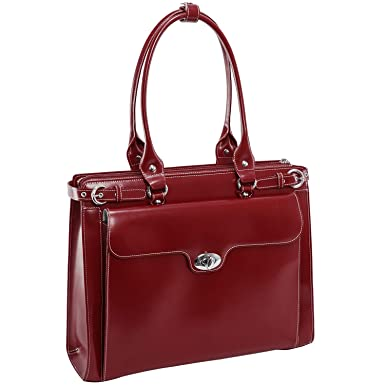 McKleinUSA Winnetka  Personalized Initials Embossing  15.4 quot  Leather  Ladies  Laptop Briefcase w  acb8e1e928