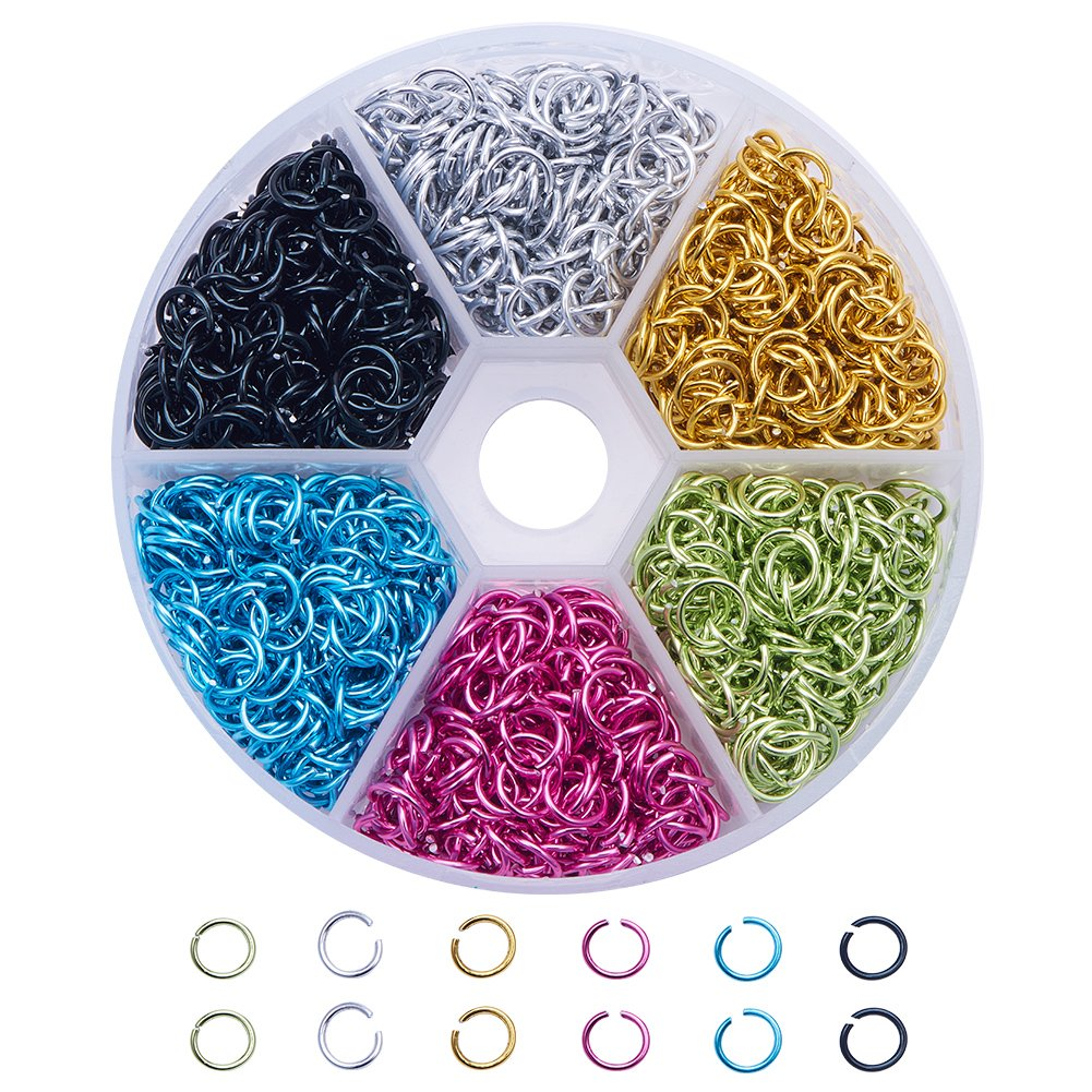 Pandahall 1 Box (about 3300PCS) Assorted 6 Colors Open Iron Jump Rings for jewelry Making Accessories Nickel Free, 4x0.7mm PH PandaHall wh-IFIN-X0025-4mm-NF-B