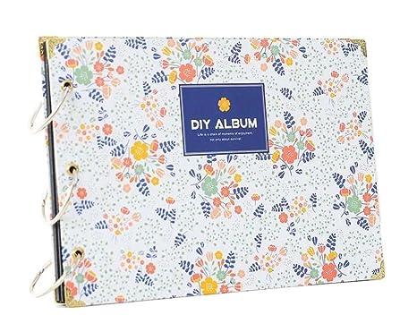Flores-1] DIY Álbum de recuerdos DIY Libro de recuerdos Álbumes de ...