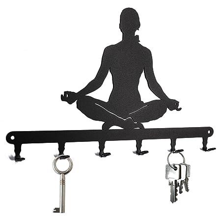 Tablero de Llaves * Yoga * - Ganchos para Llaves- 6 Gancho ...