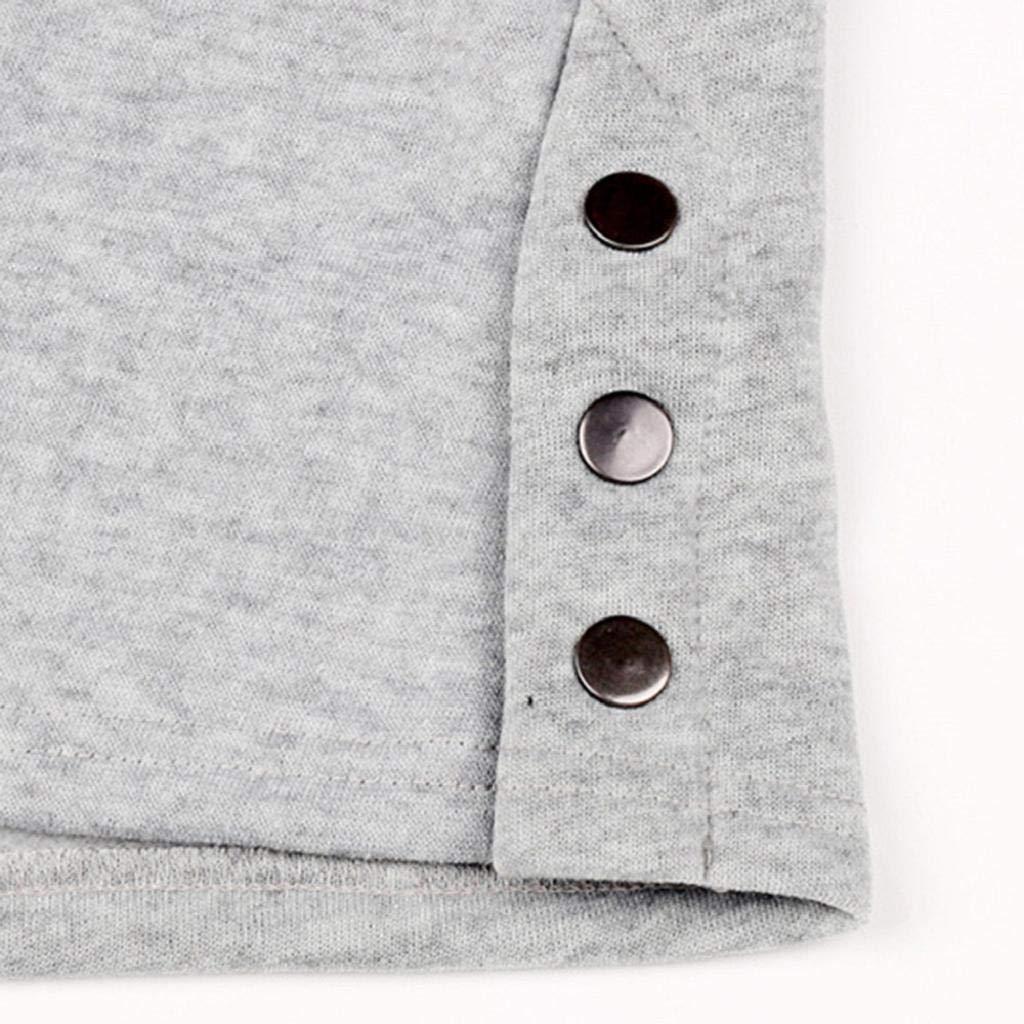 Luckycat Mujeres S/ólido Collar de Soporte Manga Completa Bot/ón c/álido Outwears Sudadera Blusa