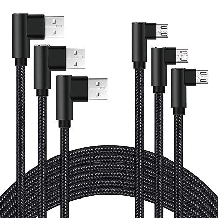 Amazon.com: Cable micro USB de 10 pies, cable micro USB ...
