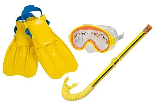 7 opinioni per Intex 55951- Maschera con Pinne e Boccaglio Swim Set Adventure, Giallo