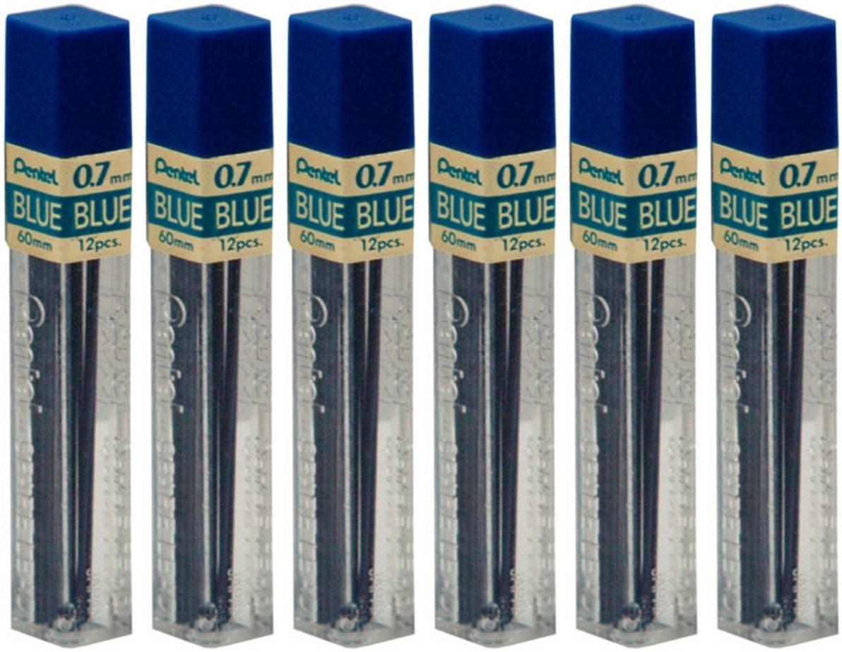Pentel 72 Minas (6 Tubos) 0.7mm  Azul