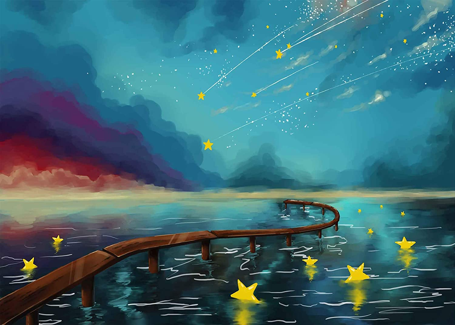 Fairy Tales Backdrop Star Cartoon Magic 7X5ft Photography Background Themed Party Photo Booth YouTube Backdrop MEETSIOY LXMT1224