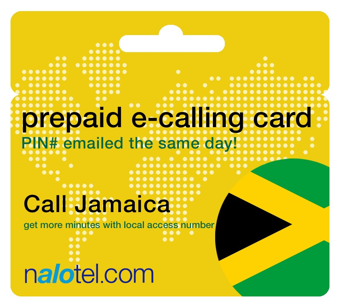 Prepaid Phone Card - Cheap International E-Calling Card $20 for Jamaica with same day emailed PIN, no postage necessary by Nalotel (Image #1)