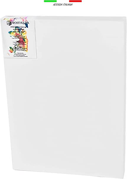 1 Board Primed Canvas Board Panel 100/% Cotton Gesso Oil Acrylic Painting A2 420 x 594mm
