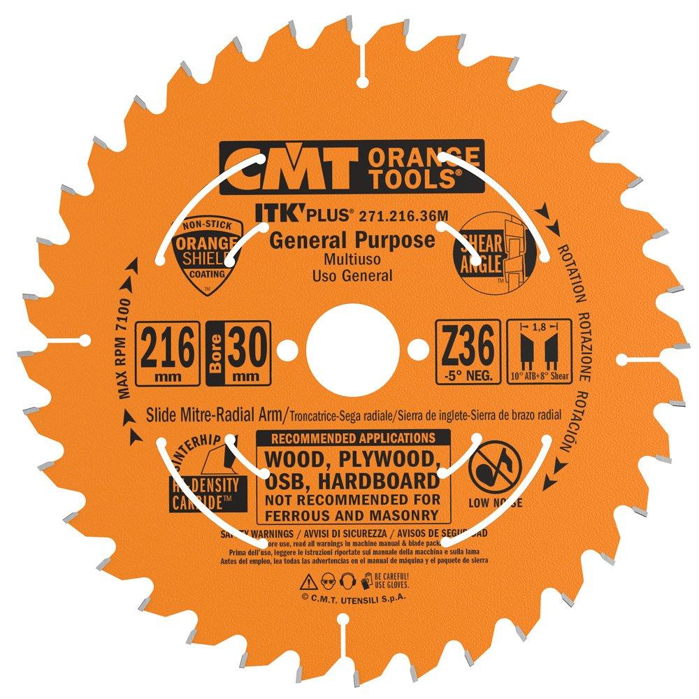 CMT Orange Tools 271.216.36M Scie circulaire Ultra ITK 216 x 1, 7 x 30 Z 36 7x 30Z 36