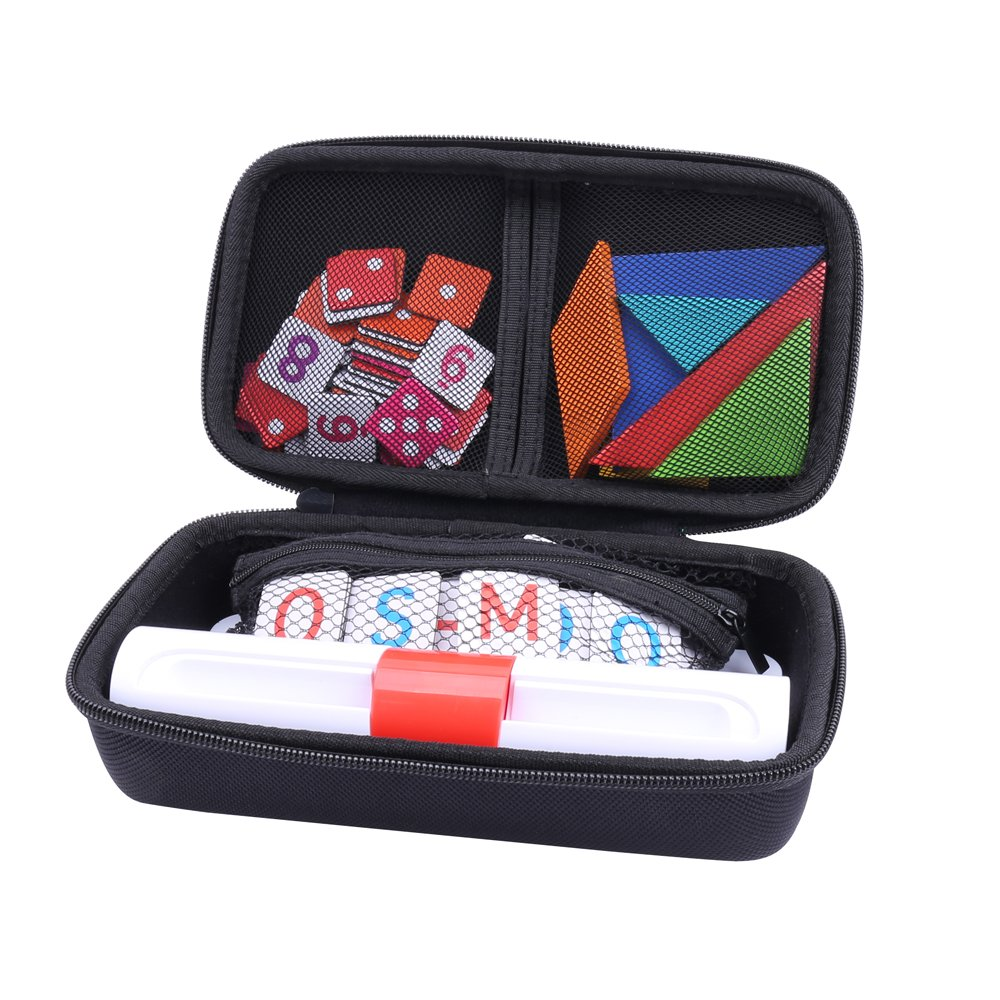 Storage Organizer Case for Osmo Genius Kit, fits OSMO Base/Starter/Numbers/Words/Tangram/Coding Awbie Game by Aenllosi (Black) by Aenllosi (Image #1)