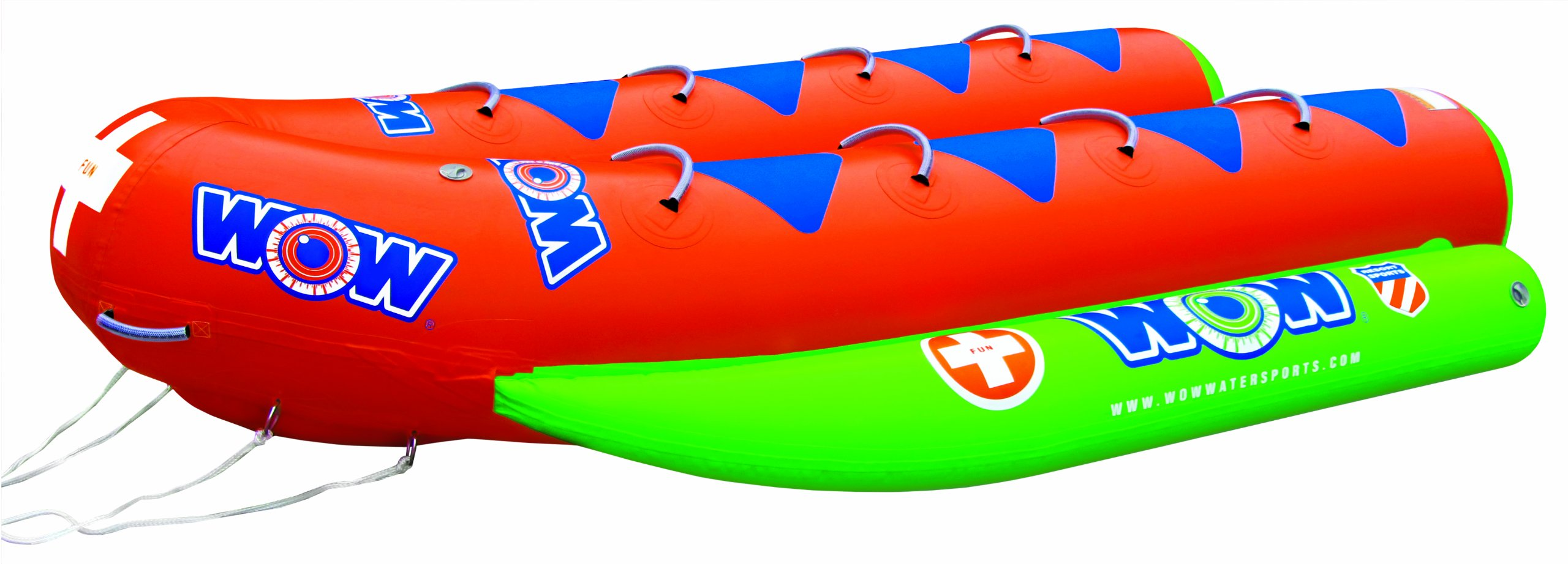 WOW World of Watersports, 12-8030, Resort Sports 8 Rider Closed Bow Towable Banana Boat