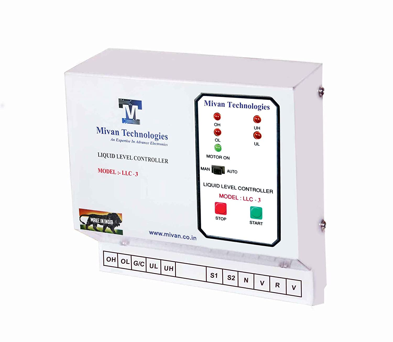 Buy Mivan Technologies 3 Phase Fully Automatic Water Level Tank Controller Motor Driver Circuit And Indicators For Submersible Pump With 6 Sensors Online