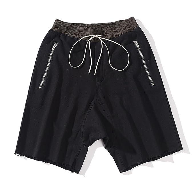 Botia Hombre Hip Hop Streetwear Pantalones Cortos Caídos Pantalones Cortos  de Playa de Cintura Elástica de Gran Tamaño  Amazon.es  Ropa y accesorios f4d1313f23c