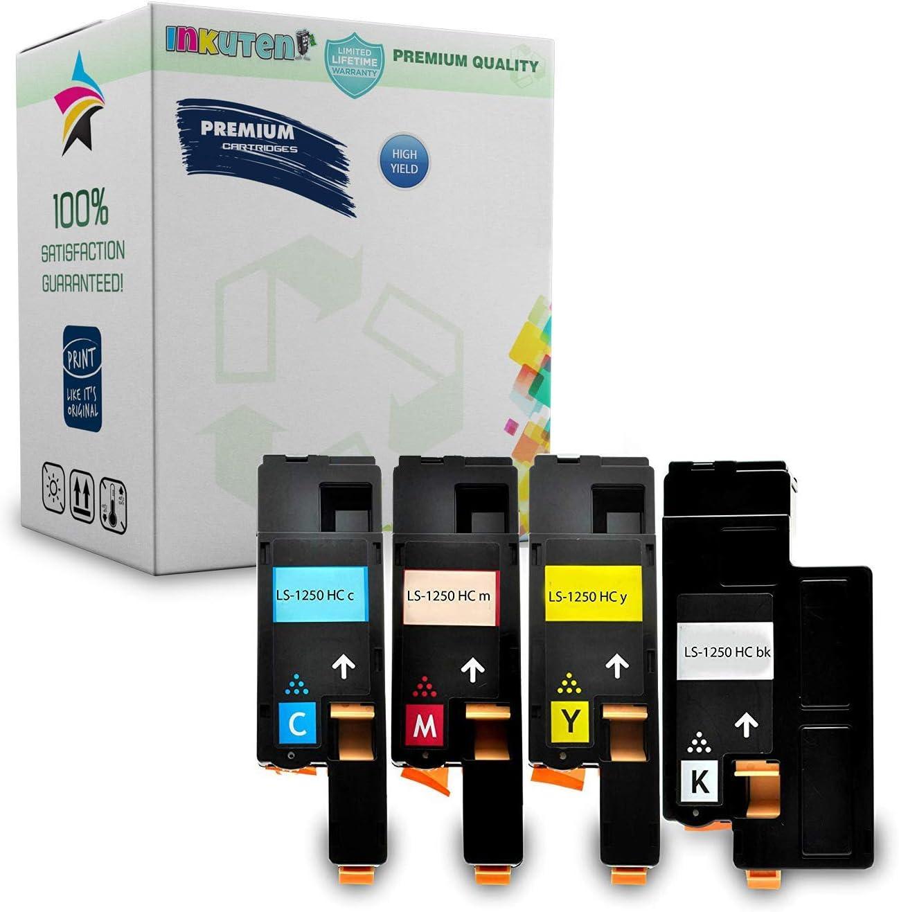 1 PK Magenta Toner Cartridge for Dell 1250 1250c 1350cnw 1355cn 1355cnw C1760nw