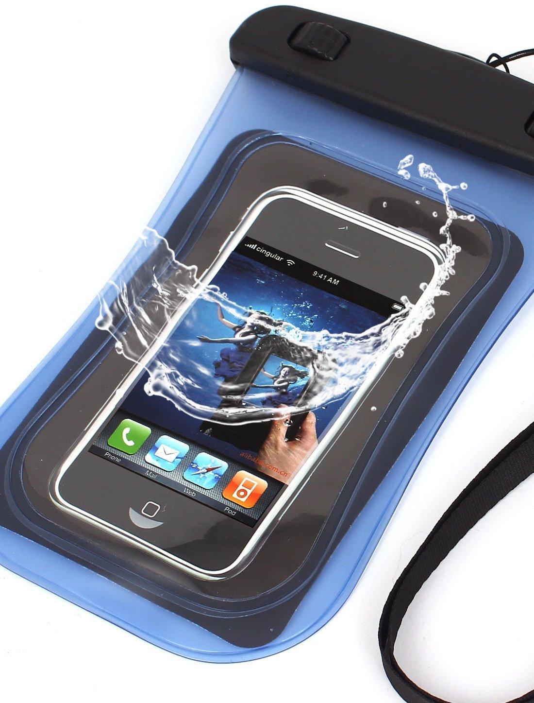 Amazon.com : eDealMax Funda impermeable del bolso seco de la piel cubierta Universal de la Bolsa Azul Para el teléfono celular : Sports & Outdoors