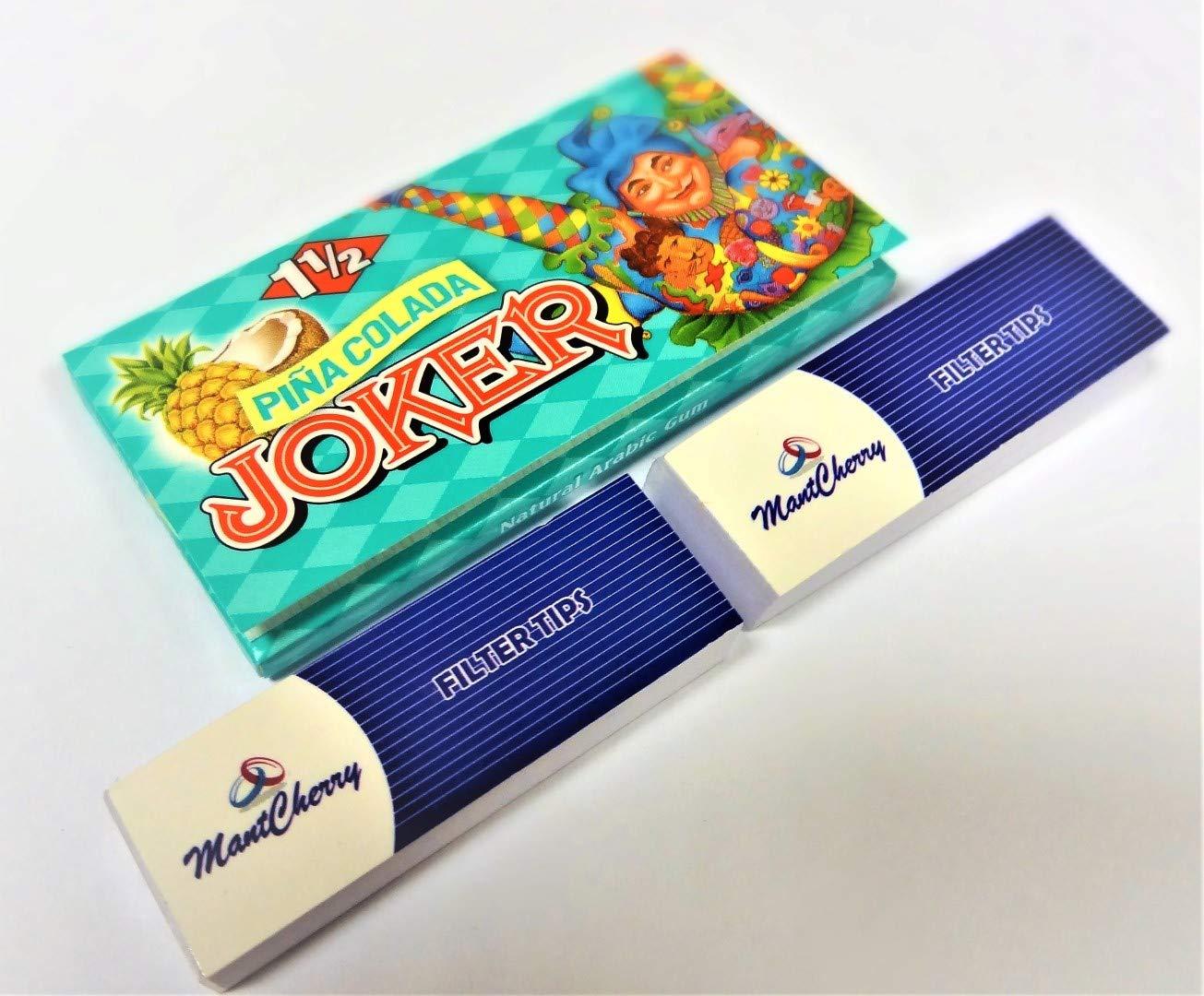 JOKER Brand 1–1/2Größe besten Geschmack Zigarette Papier in 'Pina Colada Geschmack–12Heftchen