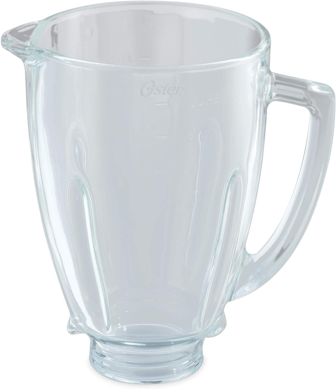 Oster BLSTAJ-G00-050 Jarra de vidrio redonda, 6 tazas, 1.5 l