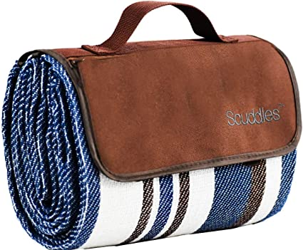 """60/""""x78/"""" Waterproof Picnic Blanket Outdoor Sand Beach Mat Pad Rug with Strap US"""