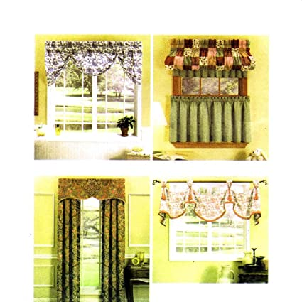 Amazon.com: Simplicity Easy Windows Valance, Curtains Sewing Pattern ...