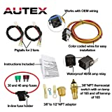AUTEX NEW Dual Electric Cooling Fan 185 Degree On