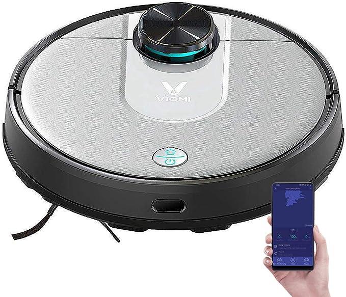 VIOMI V2 Pro, Robot aspiradora de Barrido con trapeador, navegación láser Wi-Fi, Trapeado de Barrido 2 en 1, succión Fuerte en Todo el Piso y Control de Aplicaciones 3200 mAh 2000 Pa: