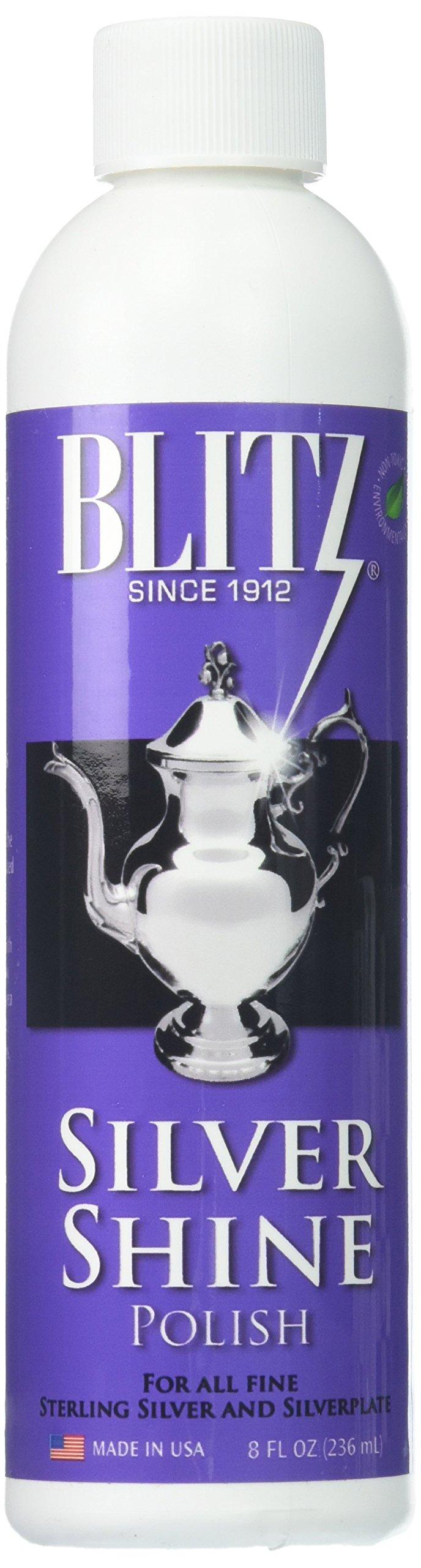 Blitz Silver Shine Polish Non-toxic Environmentally Safe 8 Oz