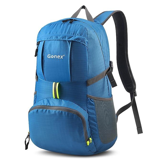 Gonex 35L ligero Packable mochila práctico plegable bolsa de hombro mochila: Amazon.es: Deportes y aire libre