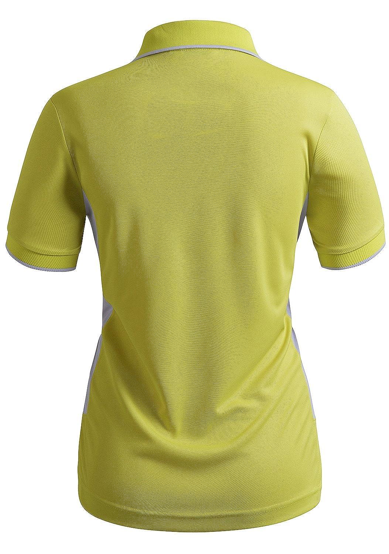 CLOVERY Womens Active Wear Short Sleeve Zipup Polo Shirt