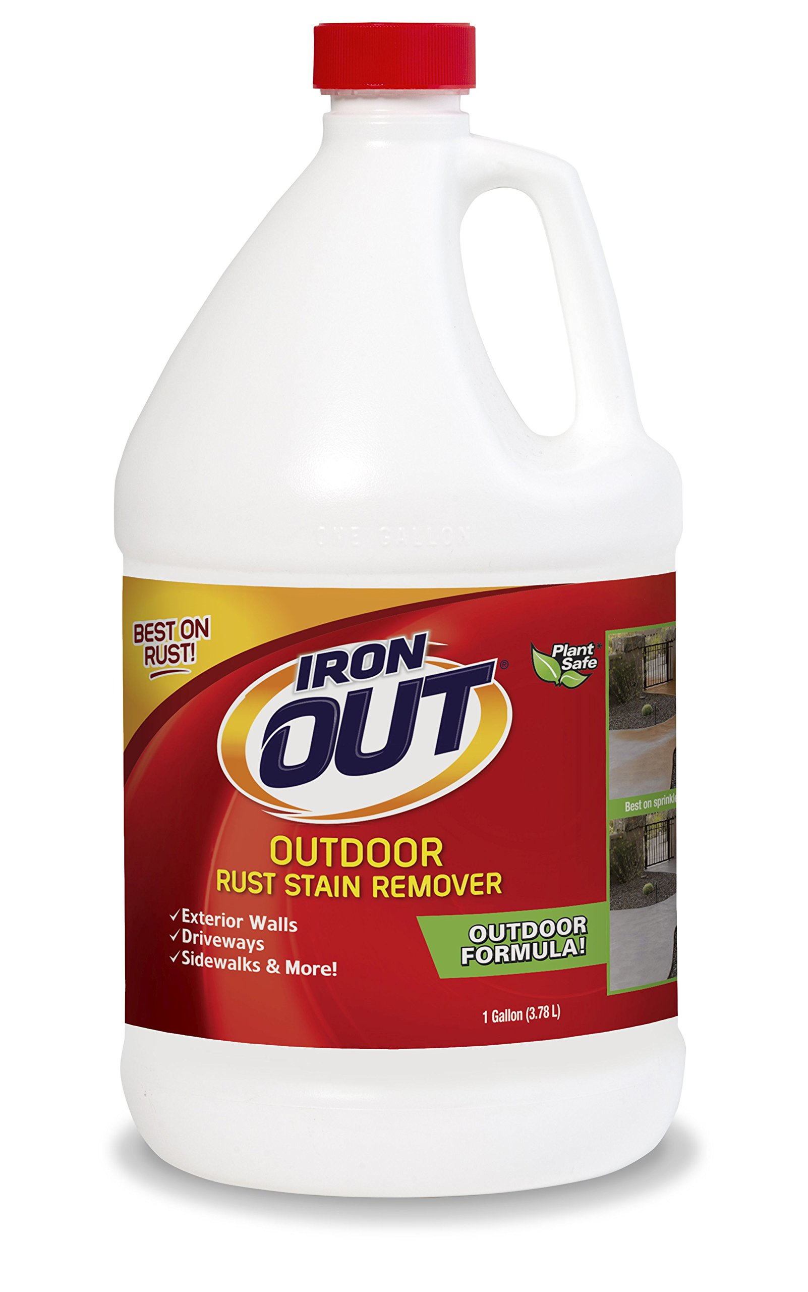 Iron OUT Outdoor Rust Stain Remover, 1 Gallon, 4 Pack by Summit Brands (Image #1)