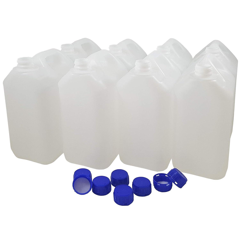 Bidón Garrafa Plástico 5 litros. Homologado para transporte. (8 Unidades)