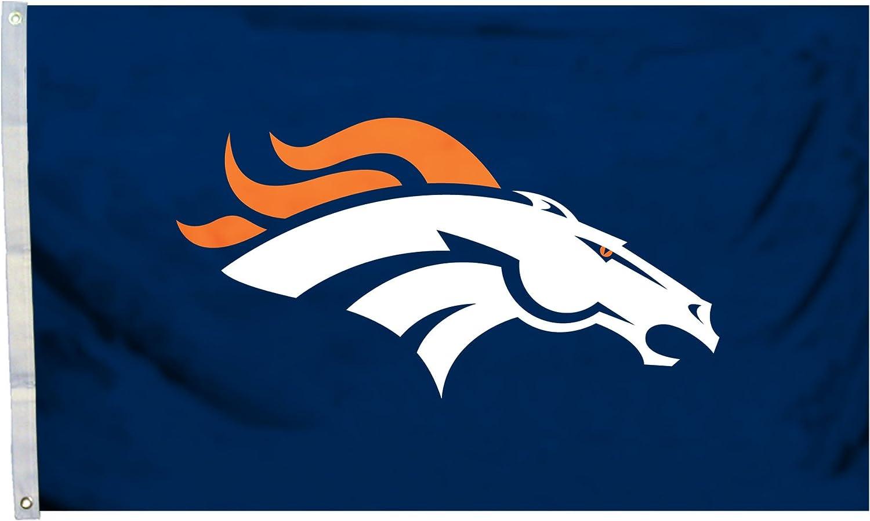 Fremont Die NFL Denver Broncos 3' x 5' Flag with Grommets, 3 x 5-Foot, Logo