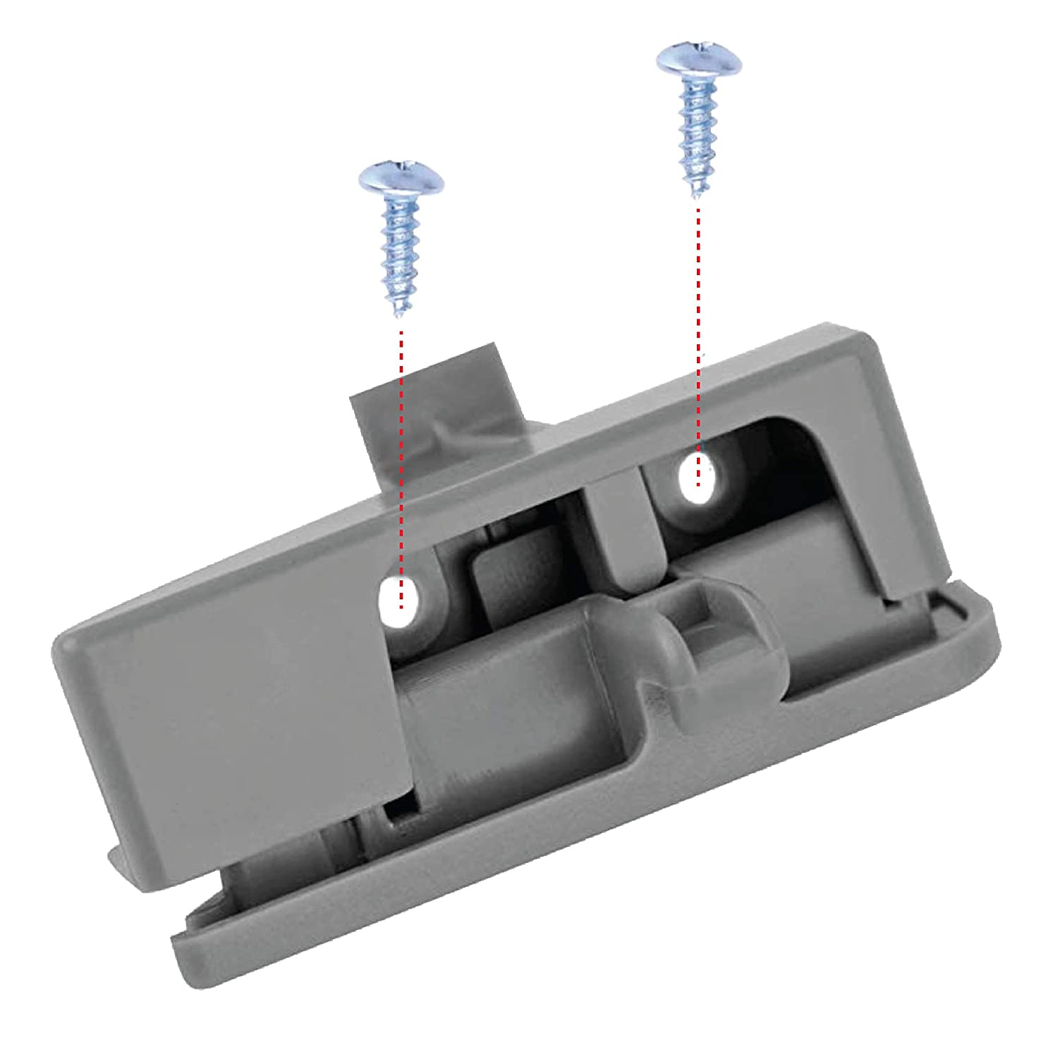 with Screwdriver /& 2 Screws Included EcoAuto Center Console Latch for Toyota Tacoma Gray OEM-58910AD030B0 2005-2012