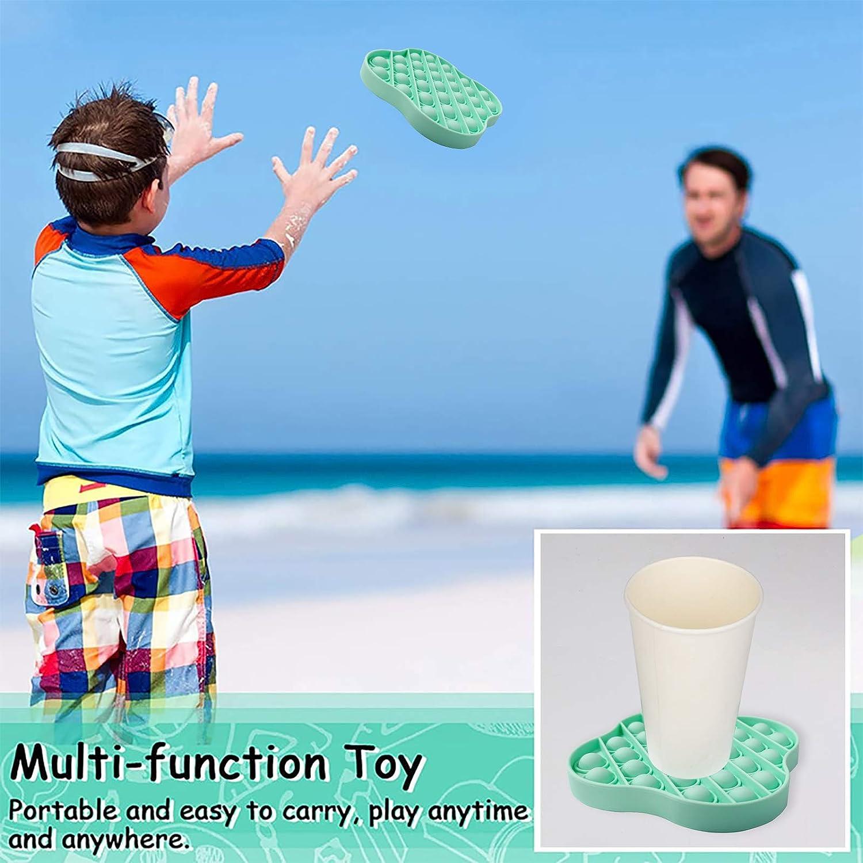 Push Pop Pop Bubble Sensory Fidget Toy Silikon Sensorisches Zappeln Spielzeug Stress Relief Special Needs Silent Classroom Fidget Sensory Toys for Kids Adults Angst Relief Finger Toys