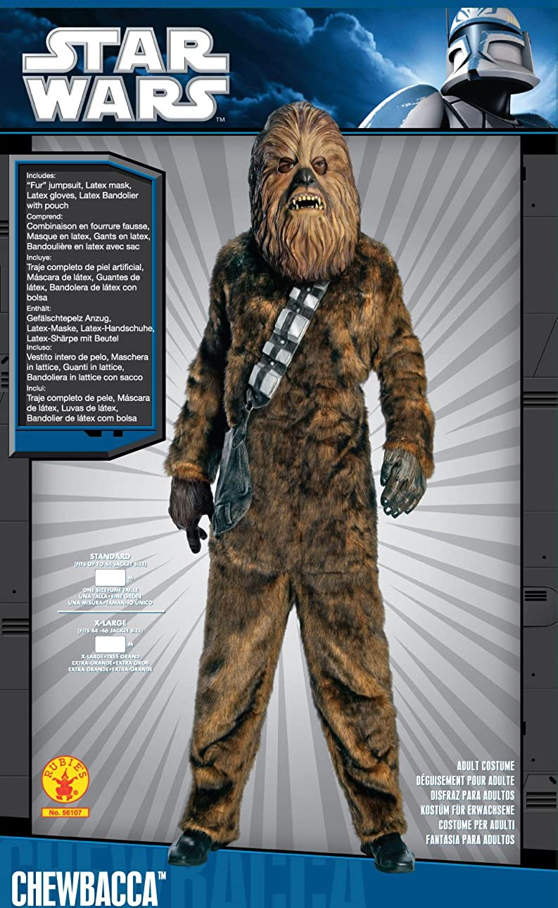 Amazon.com: Star Wars Chewbacca Deluxe Faux Fur Full Mask Costume: Toys & Games
