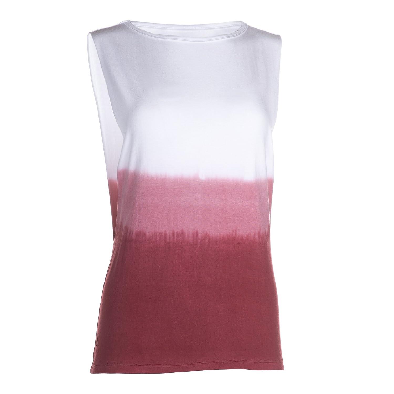 Lilikoi Yoga-Batik-top Hipster - One Größe - Weiß/rot