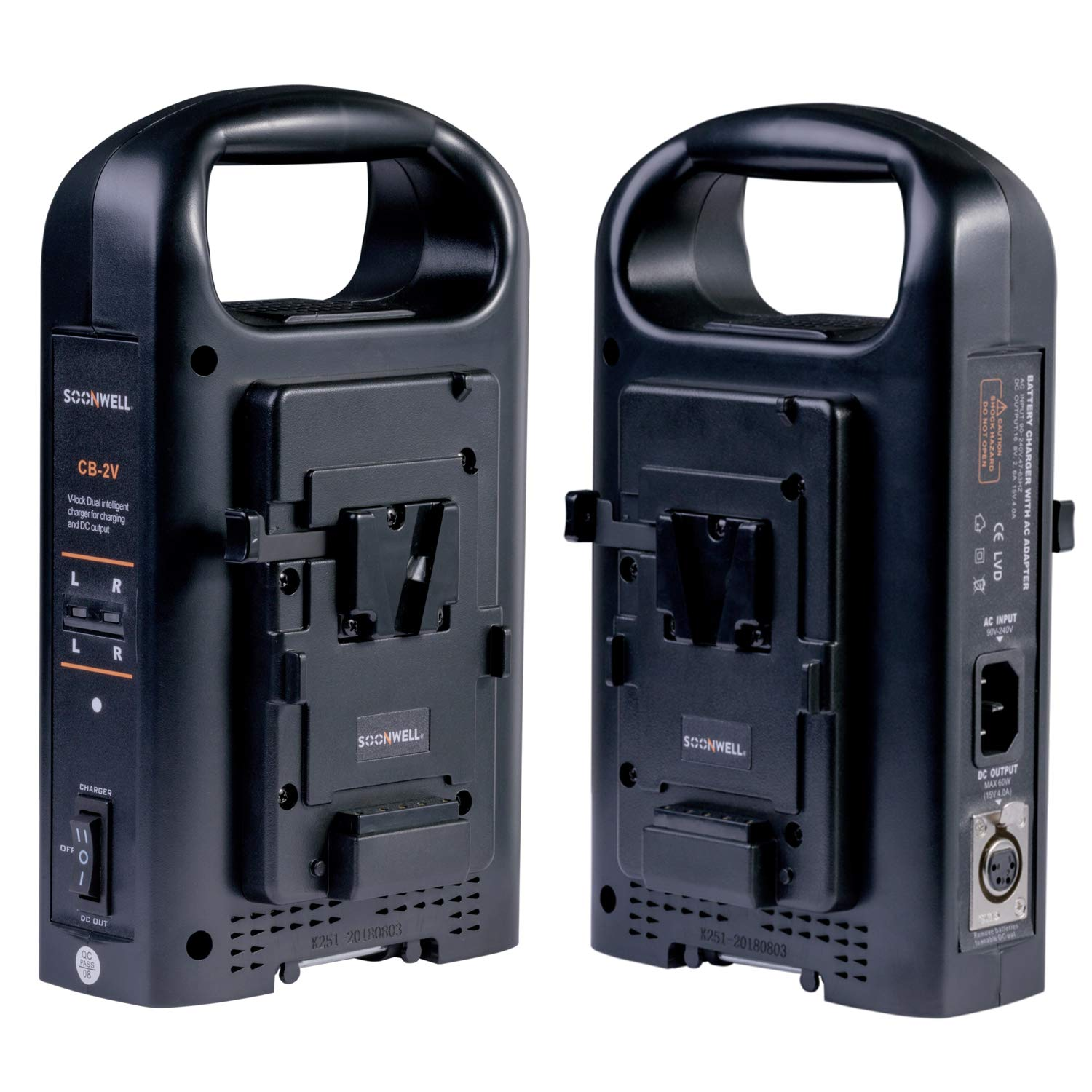 SOONWELL 2-Channel Charger Sony V Lock Power Supply V Mount Li-ion Battery Charger for Camcorder by SOONWELL