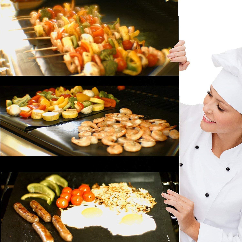 Tappetini Riutilizzabili BBQ GRILL ANTIADERENTE FORNO PER COTTURA A Prova Di Grasso vassoio piatti da forno Papers
