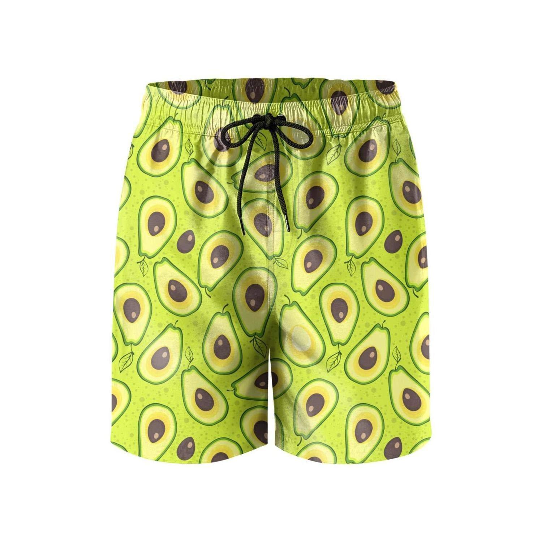 Avocados Face Avocado Plant Mens Swim Shorts Vintage Swimming Trunks for Men Beachwear