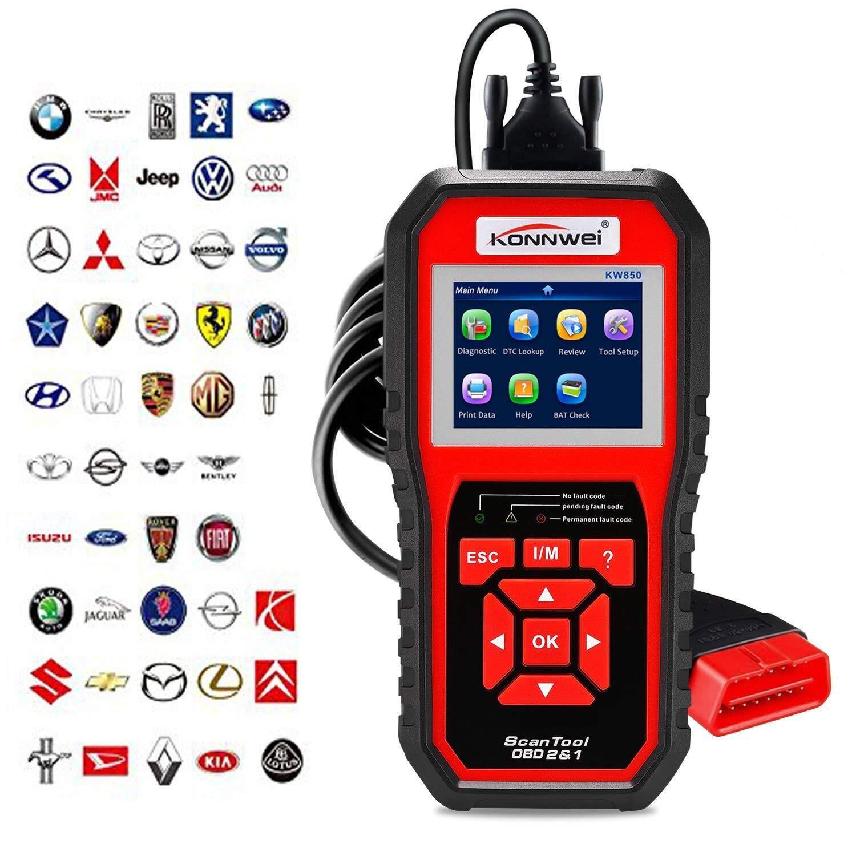KONNWEI OBD2 Scanner OBDII Auto Diagnostic Code Scanner Universal Vehicle Engine O2 Sensor Systems Scanner OBD2 EOBD Scanners Tool Check Engine Light Code Reader for all OBD II Protocol Car Since 1996 by KONNWEI (Image #1)