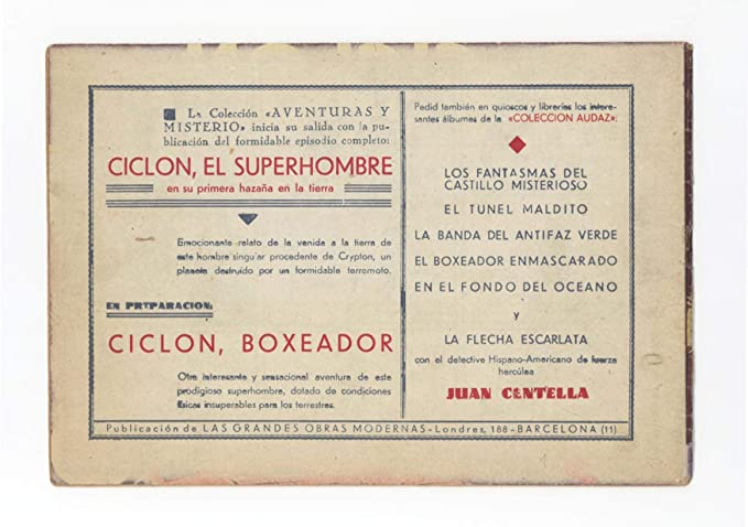 SUPERMAN #1 - CICLON: EL SUPERHOMBRE #1 - FN 5.5 - RARE 1939 1st Edition at Amazons Entertainment Collectibles Store