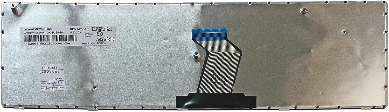 Zahara Black Keyboard Replacement for Lenovo IdeaPad G570 G575 G770 G770A G570G G575GX G575GL G560 G560A G560E G560L G560EF Z560 Z565 Z565A