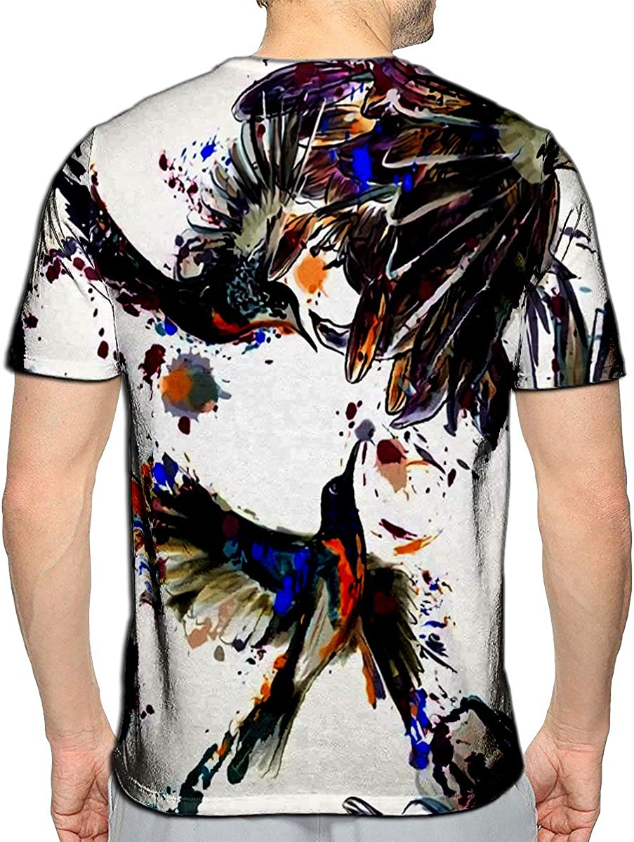 T-Shirt 3D Printed Floral Colorful Design Casual Tees