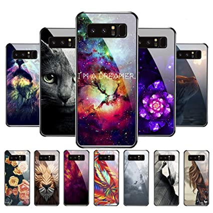 Amazon.com: Carcasa para Samsung Galaxy Note 8, 9H de ...